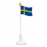 Table flag Swedish in wood 30 cm