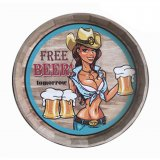 Wall decor Free beer in wood