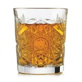 Libbey Hobstar whiskey glass dof