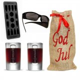 Christmas gift pack Jägermeister, glasses, ice form, 2 shot glasses 4 cl
