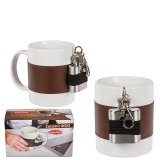 Coffee cup with hip flask