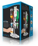Final Touch LED Rotary Bar Caddy 4 Bottle