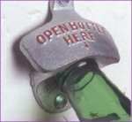 Open bottle here bottle opener