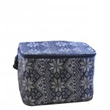 Bag for 6 glasses - knitted blue finish