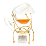 Vinology cognac - brandy warmer set gold