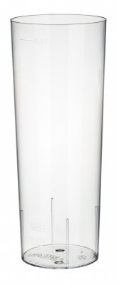 Long drink plastic glass 10-pack