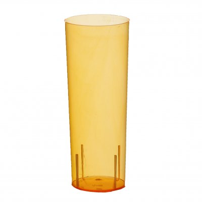 Longdrinkglas i plast orange, 10-pack