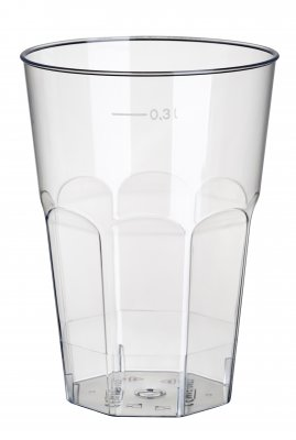 Cocktail glass in plastic 20-pack, heat resistant