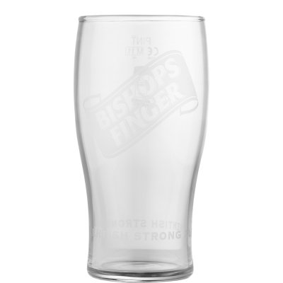 Bishops Finger pint beer glass