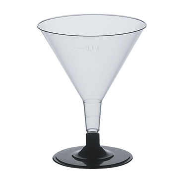 Cocktailglas plast 10 cl glasklar 20-pack