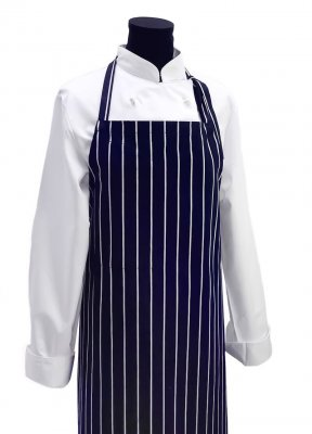 Apron pinstriped