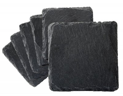 Coasters in slate 6 pack
