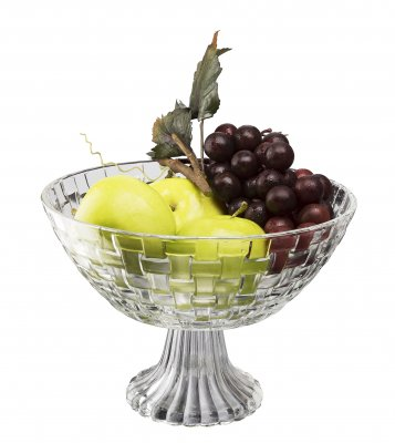 Glitter stemmed fruit bowl