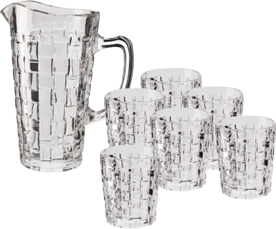 Glitter pitcher with 6 glasses