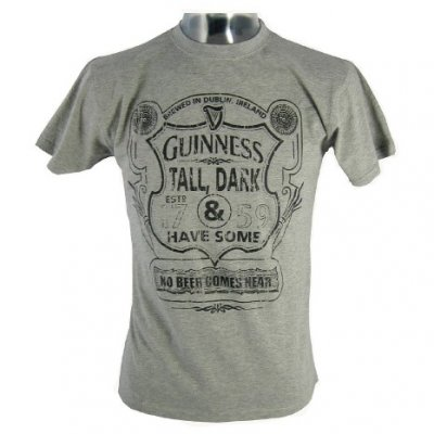 Guinness t-shirt Tall, dark & have some