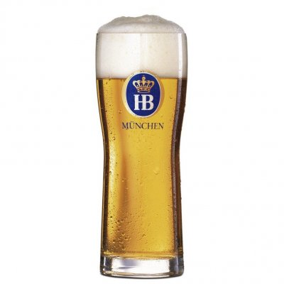 Hofbräu beer glass 40 cl