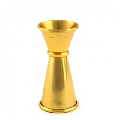 Cocktail Kingdom Jigger 20 40 gold Plated guldpläterad