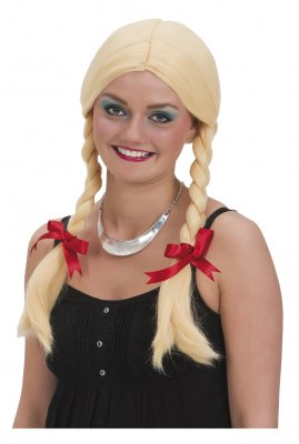 Blond wig with braids