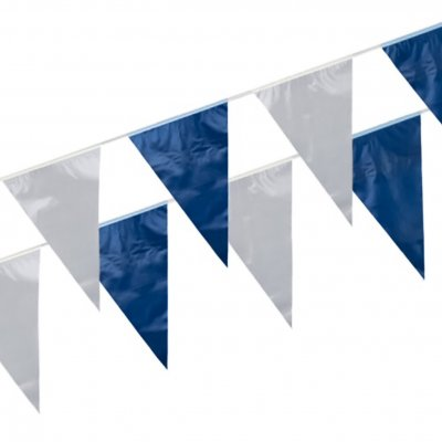 Flag Bunting blue and white flags