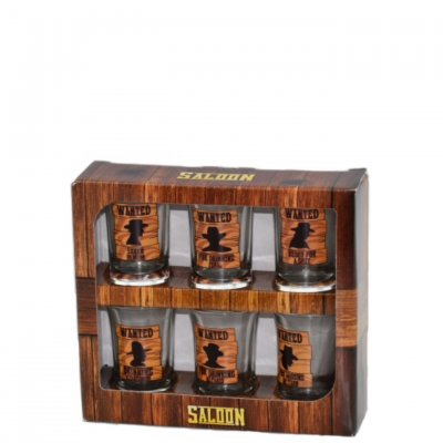 Saloon shot glass 6-pack