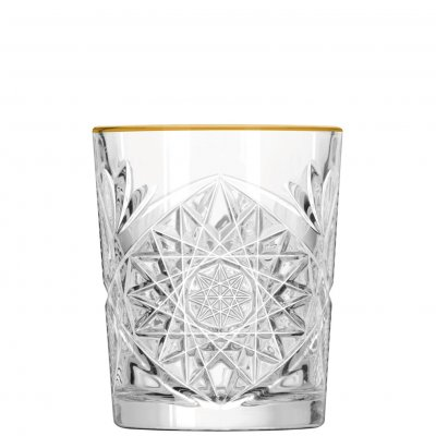 Libbey Hobstar gold whiskyglas dof