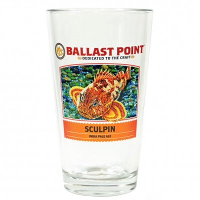 Ballast Point Sculpin IPA Beer glas ölglas
