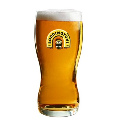 Boddington beer glass pint ölglas