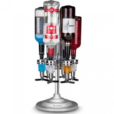 Final Touch LED Rotary Bar Caddy 6 Bottle