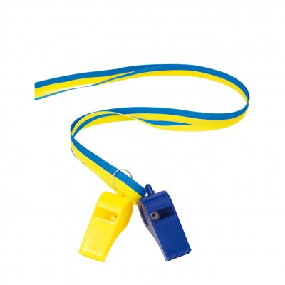Whistles blue/yellow 2-pack