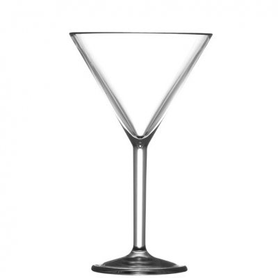 Martini glass in plastic 20 cl