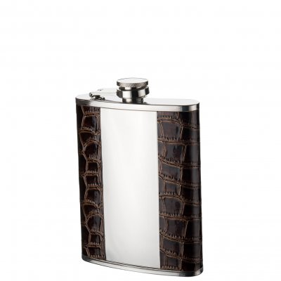 Leather hip flask blank middle