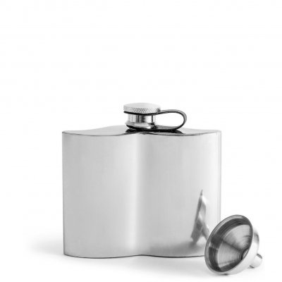 Club Mustasch hip flask with refill funnel