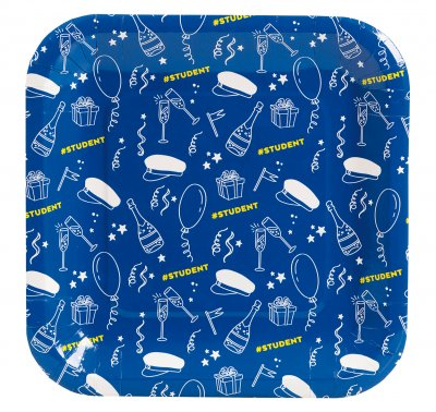 Student paper plate 8-pack