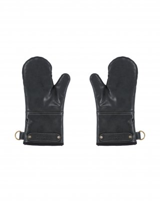Barbecue mitts Ziczac black leatherlook