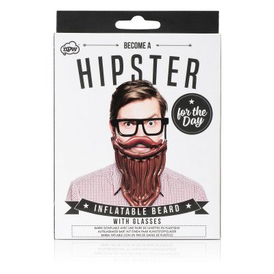 Hipster Inflatable beard and glasses