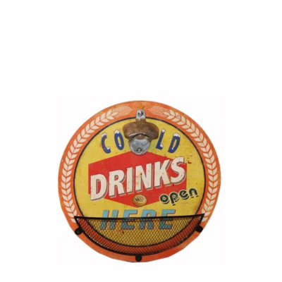 Wall mounted cap opener - Cold Drinks