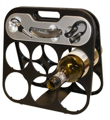 Wine rack with wine accessories