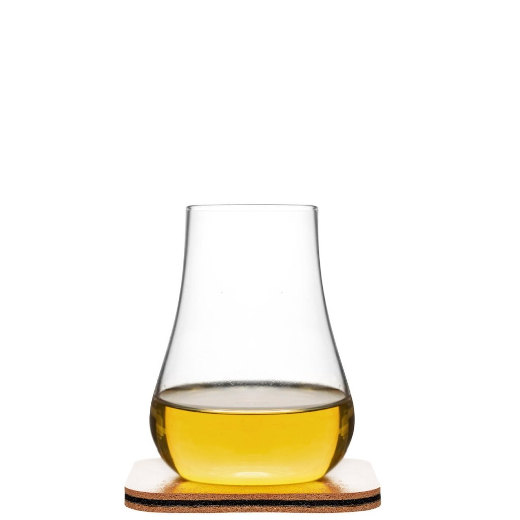 whisky tasting glass with leather coaster 2 pack. Black Bedroom Furniture Sets. Home Design Ideas